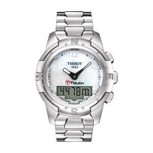 ティソット メンズ ブレスレット・バングル・アンクレット アクセサリー Women's T-Touch II Titanium Lady Bracelet Watch, 43.3mm -