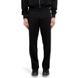 ヴェルサーチ メンズ カジュアルパンツ ボトムス Versace First Line Medusa Stripe Track Pants Black