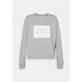 トミー ヒルフィガー レディース パーカー・スウェットシャツ アウター RELAXED BOX - Sweatshirt - light grey heather gqve0227