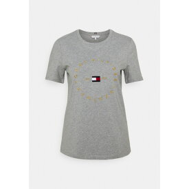 トミー ヒルフィガー レディース Tシャツ トップス REGULAR CIRCLE TEE - Print T-shirt - light grey heather gqve022a