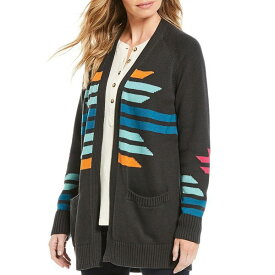 ペンドルトン レディース ニット&セーター アウター Cactus Bloom Geometric Pattern Cotton Cardigan Charcoal Multi