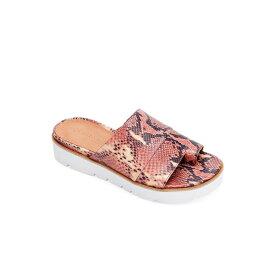 ジェントルソウルズ レディース サンダル シューズ by Kenneth Cole Women's Lavern Platform Sandals Brown Snake Print