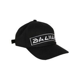 バルマン メンズ 帽子 アクセサリー Balmain Badges Cap PaNoir