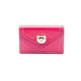 モスキーノ レディース 財布 アクセサリー Moschino Leather Wallet RED