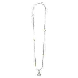 ラゴス レディース ネックレス・チョーカー・ペンダントトップ アクセサリー KSL Lux Diamond Pyramid Pendant Necklace Silver/ Diamond