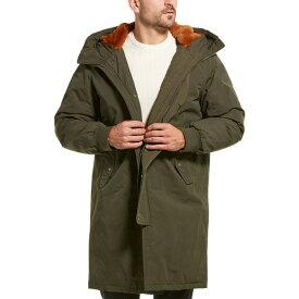 コールハーン メンズ ジャケット&ブルゾン アウター Cole Haan Heavy Tech Down Coat olive