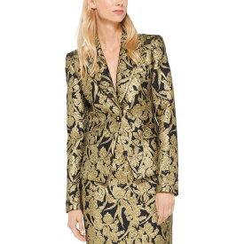 マイケル コース レディース ジャケット&ブルゾン アウター Michael Kors Collection Silk-Blend Blazer black/gold