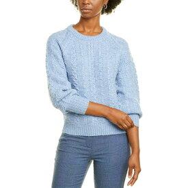 レベッカテイラー レディース パーカー・スウェットシャツ アウター La Vie by Rebecca Taylor Cable-Knit Wool-Blend Pullover misty blue