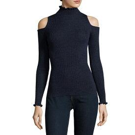 レベッカテイラー レディース パーカー・スウェットシャツ アウター Rebecca Taylor Frilled Cold-Shoulder Wool Pullover -