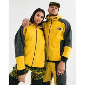 ノースフェイス メンズ パーカー・スウェットシャツ アウター The North Face 94 Rage Fleece Hoodie in leopard yellow/gray Leopard yellow/aspha