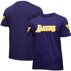 ニューエラ メンズ Tシャツ トップス Los Angeles Lakers New Era 2019/20 City Edition Brushed Jersey T-Shirt Purple