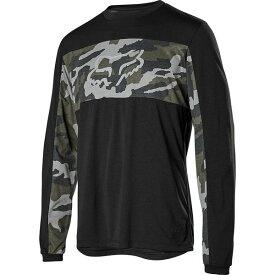 フォックスレーシング メンズ サイクリング スポーツ Ranger Dri-Release Foxhead Long-Sleeve Jersey - Men's Green Camo