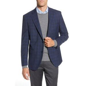 ピーター・ミラー メンズ ジャケット&ブルゾン アウター Flynn Classic Fit Windowpane Wool Sport Coat BLUE