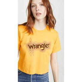 ラングラー レディース Tシャツ トップス Crop Tee Yoke Yellow