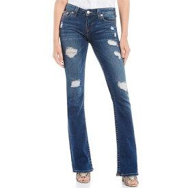 トゥルーレリジョン レディース デニムパンツ ボトムス Becca Distressed Bootcut Jeans Blue Granite Destroy