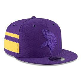 ニューエラ メンズ 帽子 アクセサリー Minnesota Vikings New Era 2018 NFL Sideline Color Rush Official 9FIFTY Snapback Adjustable Hat Purple