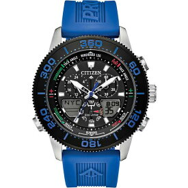 シチズン レディース 腕時計 アクセサリー Eco-Drive Men's Promaster Sailhawk Analog-Digital Blue Polyurethane Strap Watch 44mm Blue