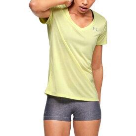 アンダーアーマー レディース Tシャツ トップス Under Armour Women's Twisted Tech V-neck T-shirt Green