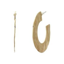 """ケネスジェイレーン レディース ピアス&イヤリング アクセサリー Satin Gold Hammered """"C"""" Shape Post Hoop Earrings Satin Gold"""
