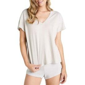 ワイルドフォックス レディース Tシャツ トップス Chrissy V-Neck Dolman T-Shirt RHINO