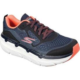 スケッチャーズ レディース スニーカー シューズ Max Cushioning Premier Running Shoe Navy/Pink