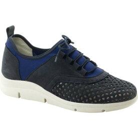 ドロメダリス レディース スニーカー シューズ Valene Perforated Sneaker Navy Leather