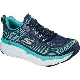スケッチャーズ レディース スニーカー シューズ Max Cushioning Elite Running Shoe Navy/Turquoise