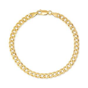 ジャニ ベルニーニ レディース ブレスレット・バングル・アンクレット アクセサリー Curb Link Chain Bracelet in 18k Gold-Plated Sterling Silver, Created for Macy's Gold Over Silver