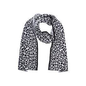 マイケルコース レディース マフラー・ストール・スカーフ アクセサリー Leopard Print Muffler Scarf PEARL HEATHER GREY