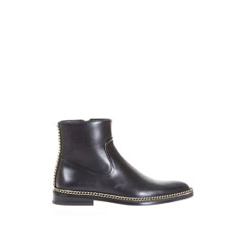 ランバン レディース ブーツ&レインブーツ シューズ Lanvin Chain Trimming Leather Ankle Boots -