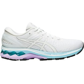 アシックス レディース ランニング スポーツ ASICS Women's GEL-Kayano 27 Running Shoes White/Blue/Purple