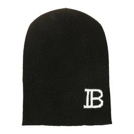 バルマン メンズ 帽子 アクセサリー Balmain Ribbed Beanie Black