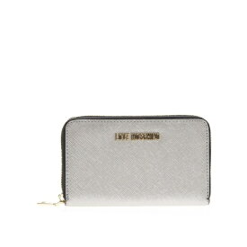ラブ モスキーノ レディース 財布 アクセサリー Love Moschino Silver Eco Leather Continental Wallet Silver