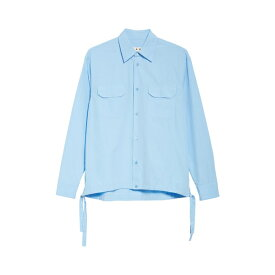 マルニ メンズ シャツ トップス Marni Workwear Shirt (Nordstrom Exclusive) Light Blue