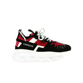 ヴェルサーチ レディース スニーカー シューズ Versace Sneakers Chain Reaction Versace Sneakers In Macro Neoprene Mesh And Leather With Finishings By Versace fuchsia