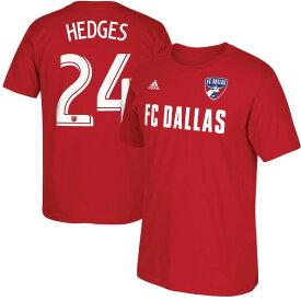 アディダス メンズ Tシャツ トップス Matt Hedges FC Dallas Male Adult 2017 MLS Player Name and Number TShirt Red