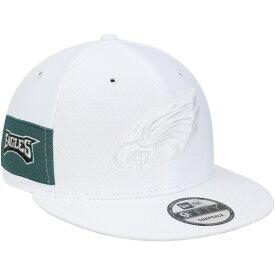 ニューエラ メンズ 帽子 アクセサリー Philadelphia Eagles New Era Kickoff Color Rush 9FIFTY Adjustable Hat White