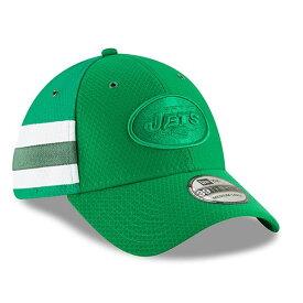 ニューエラ メンズ 帽子 アクセサリー New York Jets New Era 2018 NFL Sideline Color Rush Official 39THIRTY Flex Hat Kelly Green