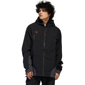 アディダス メンズ スノーボード スポーツ 20K 3L Jacket - Men's Black/Utility Black/Signal Orange