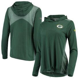 アンダーアーマー レディース パーカー・スウェットシャツ アウター Green Bay Packers Under Armour Women's Combine Authentic Threadborne Lightweight Hoodie Green