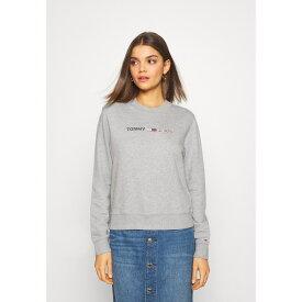 トミーヒルフィガー レディース パーカー・スウェットシャツ アウター MODERN LOGO CREW - Sweatshirt - mottled light grey jeyo020d