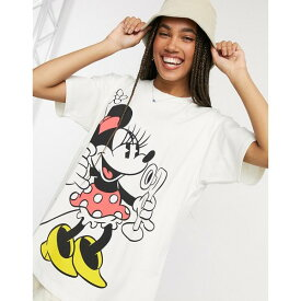 リーバイス レディース Tシャツ トップス Levi's X Disney Minnie Mouse tee in white Disney marshmallow