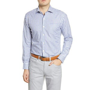 ピーター・ミラー メンズ シャツ トップス Maynard Classic Fit Check Button-Up Shirt BLUE LAPIS