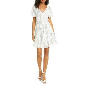 レベッカテイラー レディース ワンピース トップス Lily Floral Silk & Cotton Dress SNOW COMBO