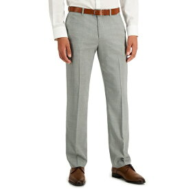 ペリーエリス メンズ カジュアルパンツ ボトムス Men's Modern-Fit Subtle Check Performance Dress Pants Light Gray