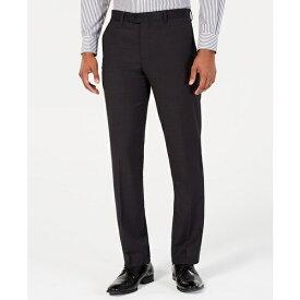 ペリーエリス メンズ カジュアルパンツ ボトムス Men's Portfolio Slim-Fit Stretch Suit Pants Black Solid