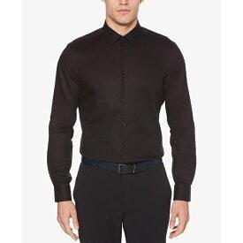ペリーエリス メンズ シャツ トップス Men's Slim-Fit Dobby Shirt Black