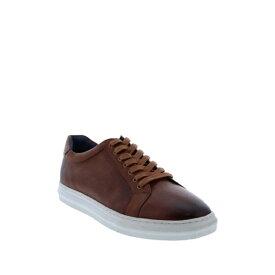 ザンザラ メンズ スニーカー シューズ Baden Leather Sneaker COGNAC