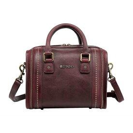 オールドトレンド レディース ハンドバッグ バッグ Genuine Leather Mini Trunk Crossbody Bag Rusty Red