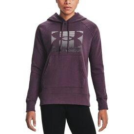 アンダーアーマー レディース パーカー・スウェットシャツ アウター Women's Lock Logo Hoodie Pixel Purple